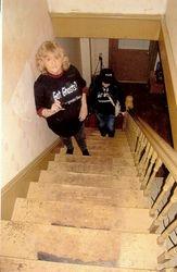 Lorrie and Dina head upstairs