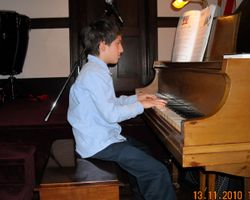 Matthew at recital -  2010