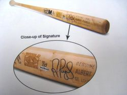 Albert Pujols Signed 2006 World Series Upper Deck Authenticated 1/25 Bat