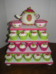 Tea Party Cupcake Stand