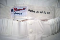 Albert Pujols 2003 Game Used Home Uniform Pants