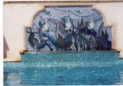 Rooftop pool mosaic