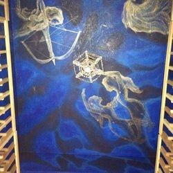 Constellation Wine Cellar Ceiling Mural