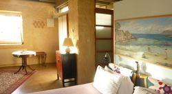 ground floor: bedroom with kichenette