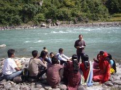 Dhan teaching at baptism- 2008