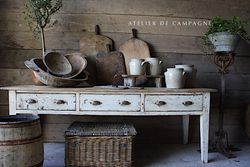 #29/088 FRENCH SERVING TABLE