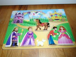Circo Fairy Tale Princess Wood Peg Puzzle - $8
