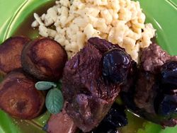 Beef Short Ribs with Cherry Basil Glaze