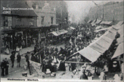 Wednesbury Market. c1902.