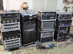Some Of My Sound System Rack Gear.