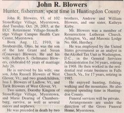 Blowers, John R. 2003