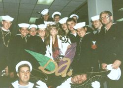 Mardi gras with French Navy