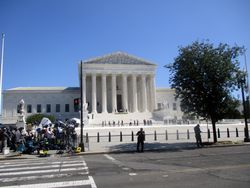 West Façade of US Supreme Court Building from West-Northwest During Lying in Repose of Associate Supreme Court Justice Ruth Bader Ginsburg