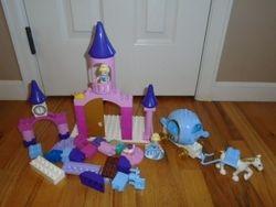 LEGO DUPLO 6154 & 6153 Disney Princess Cinderellas Castle and Carriage- $40