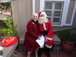 President Barbara and Santa