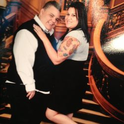 Jessy (left) and Semi (right) showing off her hot ink on thier cruise. Eternal in the high life :)