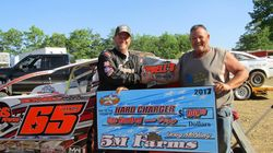 Rex King Sr is 5M Hard charger winner at Tyler County  Speedway April 15, 2017