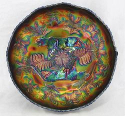 Panther centre piece bowl in blue