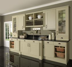COLONIAL PENDLE MOSS PAINTED OAK KITCHEN
