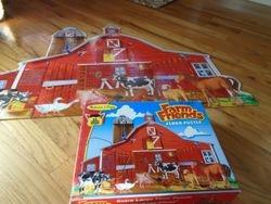 Melissa &Doug Busy Barn Jumbo Floor Puzzle 32pc - $8