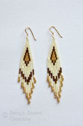 Stacked Bugle Bead and Seed Bead Earrings
