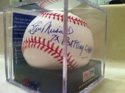 "Stan Musial rare autograph, ""7X Batting Champ"", MLB Selig, PSA#P39206, GEM 9.5      Enlarge          Sell one like this   Stan Musial rare autograph, ""7X Batting Champ"", MLB Selig, PSA#P39206, GEM 9.5"
