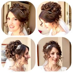 Elegant and Stunning Vintage inspired Updo for our beautiful bride Cat