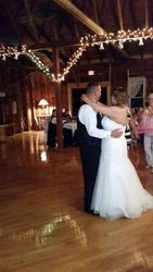 Ashley shares the dance floor with her dad...