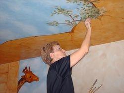 Plafond peint dans notre boutique