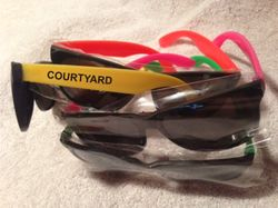 Sunglasses, Assorted Neon Frames.   UV Protection