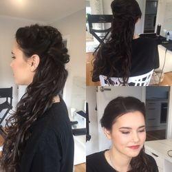 Georgia's hair and makeup for photo shoot.