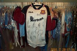 1999 Worn and squad signed Davor Suker shirt