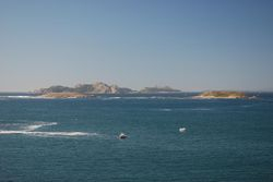 View of Isles Cies from the ramparts