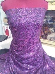 Purple sequins on black  511#