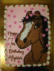 30 serving horse cake $120