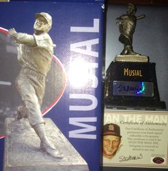 Stan Musial Autographed Cardinals SGA Stadium Giveaway Bronze Statue Auto