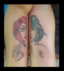 Disney Princesses tattoo by Ruben