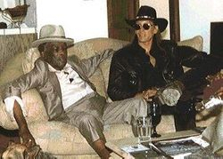 Chilling out with John Lee Hooker in Los Altos CA - 1997