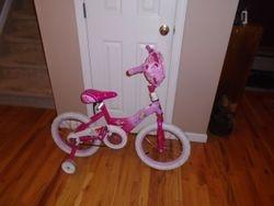 "Huffy Disney Princess 16"" Bike With Training Wheels - $15"