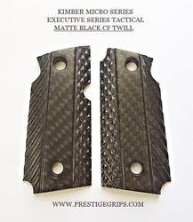 KIMBER MICRO 9 MATTE black CF Executive Series Beveled cut grips