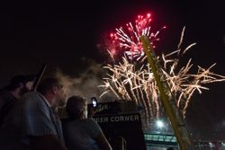 Stadium Fireworks by Linda Rutherford (AW)