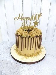 Coffee and walnut drip cake