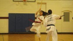 Quan & Dennise  Pole Fighting