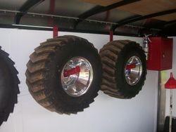 Custom Wheel Racks for Enclosed Trailer