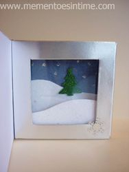 Box Card Silver Snow Scene