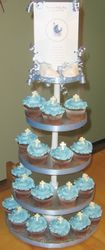 Baptism Cupcakes for a Boy