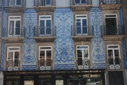 A house with painted tiles
