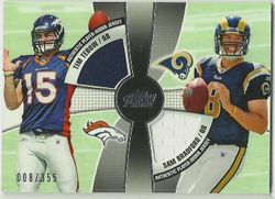 SAM BRADFORD TIM TEBOW 2010 Topps Prime Dual Jersey # 8/355 1/1 ROOKIE CARD