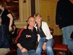 with Britt Ekland 2008
