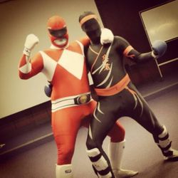 Ninja and a power ranger...